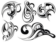 Tribal tattoo elements Royalty Free Stock Photography