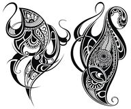 Tribal tattoo elements Stock Photography