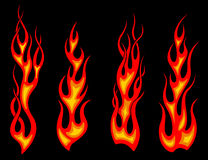 Tribal tattoo flames. Set for fantasy design Royalty Free Stock Photo