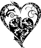 Tribal tattoo heart Stock Photography
