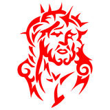 Tribal tattoo Jesus Christ Royalty Free Stock Images