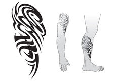 Tribal tattoo pattern Royalty Free Stock Image