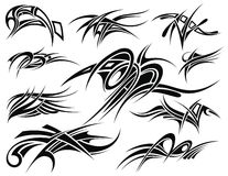 Tribal tattoo set Stock Photo