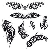 Tribal, tattoo, set Royalty Free Stock Photos