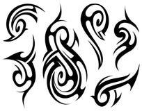Tribal tattoo set Stock Images