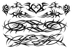 Tribal tattoo set two Royalty Free Stock Images