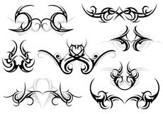 Tribal tattoo set Royalty Free Stock Images