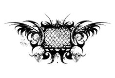 Tribal tattoo with skulls Stock Images