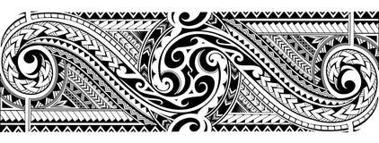 Tribal tattoo sleeve royalty free stock photos