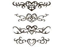 Tribal tattoo stencil vector illustration Royalty Free Stock Photos