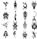 Tribal Tattoo Vector Set Illustration 2. Decorative illustration of  tribal tattoo set on white background, eps format included Royalty Free Stock Photo