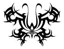 Tribal tattoo. Vector Tribal. Stencil. butterfly abstract black white. Design. Ornament. Abstract Royalty Free Stock Photo