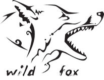 Tribal tattoo wild fox. Black and white vector: wild fox head. Tribal tattoo style. Very easy to edit: all elements are separated Royalty Free Stock Photography