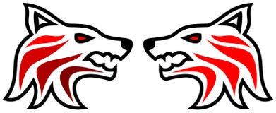 Tribal tattoo wolf vector illustration