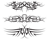 Tribal tattoos. Patterns of tribal tattoo for design use Royalty Free Stock Photo