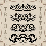 Tribal tattoos. Vector Set, collection of tribal tattoo including Stock Photography