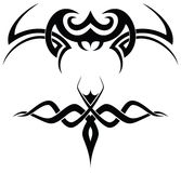 Tribal tattoos. A set of 2 tribal tattoo vector shapes Stock Image