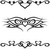 Tribal tattoos. A set of 3 tribal tattoo vector shapes Stock Illustration