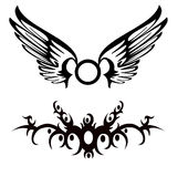 Tribal Tattoos. Tribal vector illustration of tattoos Royalty Free Stock Photo