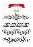 Tribal tattoos set 1 Royalty Free Stock Photography