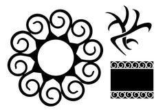Tribal tattos. An illustration of three tribal tattoos Royalty Free Stock Photos
