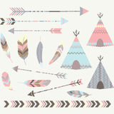 Tribal Tee pee Tents Collections Royalty Free Stock Images