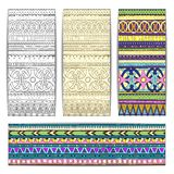 Tribal texture cards. Royalty Free Stock Images