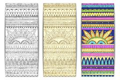 Tribal texture cards. Stock Image