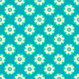 Tribal texture geometric flowers seamless pattern Royalty Free Stock Image
