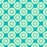 Tribal texture geometric flowers seamless pattern Stock Photos