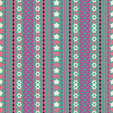 Tribal texture geometric seamless pattern. Vector illustration. Geometric pattern design for web, mobile and print Royalty Free Stock Photos