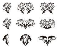 Tribal tiger head text elements Stock Photos