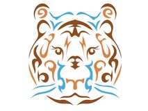 Tribal tiger illustration royalty free stock photos