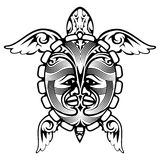Tribal Totem Animal Turtle Tattoo Royalty Free Stock Photography