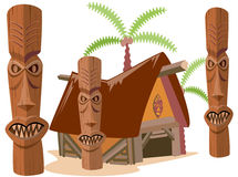 Tribal totems Royalty Free Stock Image