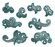 Tribal tracery elements Stock Photography