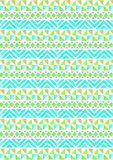 Tribal triangle pattern background 01. Tribal triangle pattern green blue repeating background  web print design Royalty Free Stock Images