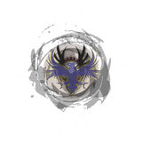 Tribal Turbulent Dark Blue Phoenix Logo Royalty Free Stock Photos