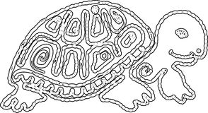 Tribal turtle. Mayan ancient symbolic of turtle Royalty Free Stock Images