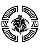 Tribal turtle tattoo. Turtle tattoo sea graphic tortoise reptile Royalty Free Stock Image