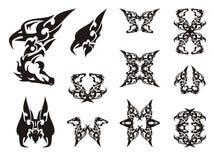 Tribal unusual eagle-horse symbols Royalty Free Stock Images