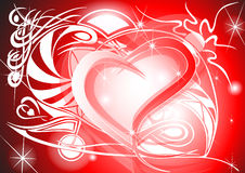 Tribal Valentine heart. With tribal background and headline Stock Photos