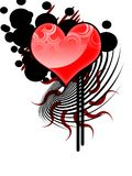 Tribal Vector heArt Royalty Free Stock Image