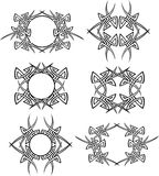 Tribal Vector Icons. Vector Illustrations with tribal markings Stock Image