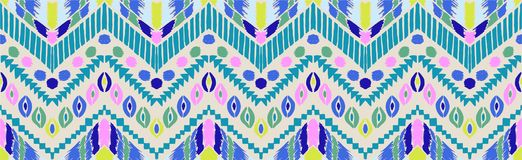 Tribal vector ornament. Seamless African pattern. Ethnic carpet with chevrons. Aztec style. vector illustration