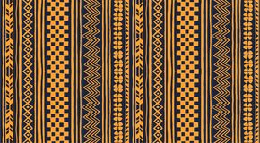 Tribal vector ornament. Seamless African pattern. Ethnic carpet with chevrons and strips. Aztec style. Geometric striped pattern. Ancient interior. Modern rug royalty free illustration