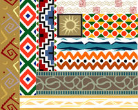 Tribal vector pattern set Stock Image