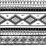 Tribal vector seamless pattern. Hand drawn abstract background. Stock Images