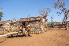 Tribal village Stock Photography