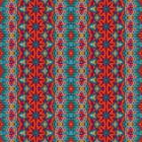Tribal vintage abstract geometric ethnic seamless pattern ornamental. Asian striped textile design Royalty Free Stock Images